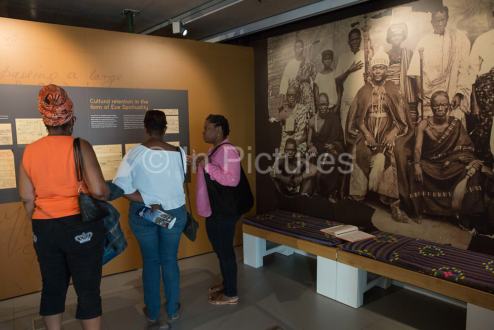 The Black Cultural Archives gallery during the 70th anniversary of the arrival of the passenger liner, Empire Windrush, and the men and women who came to England from the Caribbean on the 23rd June 2018 in Brixton in the United Kingdom. The arrival of 492 passengers from the Caribbean on the 22 June 1948 marked a seminal moment in Britain's history. (photo by Sam Mellish / In Pictures via Getty Images)