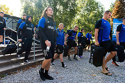 Max Clark and the rest of the Bath Rugby team arrive at Allianz Park - Mandatory byline: Patrick Khachfe/JMP - 07966 386802 - 29/09/2018 - RUGBY UNION - Allianz Park - London, England - Saracens v Bath Rugby - Gallagher Premiership Rugby