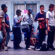 Migrants unable to cross the US Mexico border find respite in Casa del Migrante, a Catholic shelter for migrants in Tijuana, Mexico.