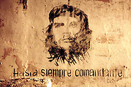 Wall with Che in Gibara, Holguin, Cuba.