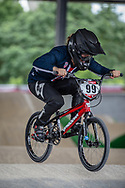 #99 (GEORGE Danielle) USA at Round 6 of the 2019 UCI BMX Supercross World Cup in Saint-Quentin-En-Yvelines, France