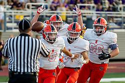 27 August 2021: Normal Community Ironmen visit the Bloomington High School Raiders at Bloomington High School in Bloomington IL