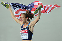 ATHLETICS - IAAF WORLD CHAMPIONSHIPS 2011 - DAEGU (KOR) - DAY 6 - 01/09/2011 - PHOTO : STEPHANE KEMPINAIRE / KMSP / DPPI - <br /> 1500 M - WOMEN - FINALE - WINNER - GOLD MEDAL - JENNIFER BARRINGER SIMPSON (USA)