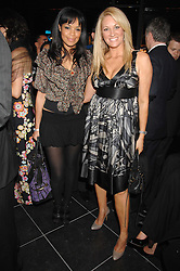 Left to right, TV presenter SARAH-JANE CRAWFORD and SARAH BOSNICH  at the opening of the new Gaucho restaurant at the O2 Arena, London on 15th May 2008.<br />