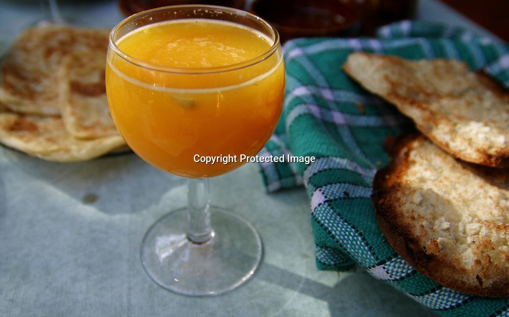 orange juice in moroccon hotel