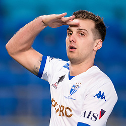 BRISBANE, AUSTRALIA - SEPTEMBER 20: Milos Lujic of South Melbourne celebrates scoring a goal during the Westfield FFA Cup Quarter Final match between Gold Coast City and South Melbourne on September 20, 2017 in Brisbane, Australia. (Photo by Gold Coast City FC / Patrick Kearney)