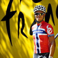 CYCLING - TOUR DE FRANCE 2010 - PAU (FRA) - 20/07/2010 - PHOTO : VINCENT CURUTCHET / DPPI - <br /> STAGE 16 - BAGNERES DE LUCHON > PAU - THOR HUSHOVD (NOR) / CERVELO TEST TEAM