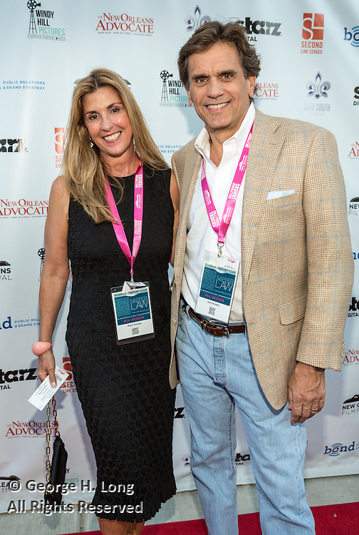Alexa Georges and Jerry Armatis on the red carpet during opening night of the 25th Anniversary New Orleans Film Festival; Opening night film is 'Black and White' directed by Mike Binder
