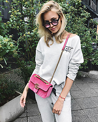 """Mandy Bork releases a photo on Instagram with the following caption: """"Sundays are for #loungewear \ud83d\ude0d\ud83e\udd17 #ootd #berlin @juviacollection"""". Photo Credit: Instagram *** No USA Distribution *** For Editorial Use Only *** Not to be Published in Books or Photo Books ***  Please note: Fees charged by the agency are for the agency's services only, and do not, nor are they intended to, convey to the user any ownership of Copyright or License in the material. The agency does not claim any ownership including but not limited to Copyright or License in the attached material. By publishing this material you expressly agree to indemnify and to hold the agency and its directors, shareholders and employees harmless from any loss, claims, damages, demands, expenses (including legal fees), or any causes of action or allegation against the agency arising out of or connected in any way with publication of the material."""