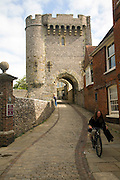 Barbican tower, Lewes Castle, East Sussex, England