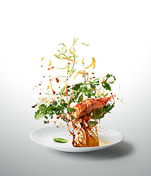 Miso Kale Salad & Salmon<br />