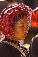 Pao tribe woman at Heho Market, Shan State, Myanmar (Burma)