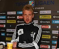 Fotball Pressekonferanse Brakka Lerkendal 16 januar<br /> Ny spiller Rosenborg : Tobias Mikkelsen<br /> Lerkendal Stadion, Trondheim<br /> <br /> Tobias Mikkelsen, Rosenborg<br /> <br /> <br /> Foto : Arve Johnsen, Digitalsport