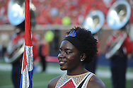 Mississippi Rebels band member at Vaught-Hemingway Stadium at Ole Miss in Oxford, Miss. on Saturday, September 26, 2015. (AP Photo/Oxford Eagle, Bruce Newman)
