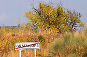Gratallops road sign. Priorato, Catalonia, Spain