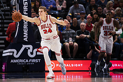 November 23, 2017 - Salt Lake City, UT, USA - 171117 Chicagos Lauri Markkanen under basketmatchen i NBA mellan Utah Jazz och Chicago Bulls den 22 november 2017 i Salt Lake City  (Credit Image: © Joel Marklund/Bildbyran via ZUMA Wire)
