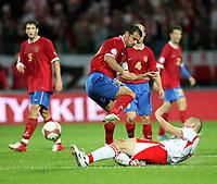 Fotball<br /> EM-kvalifisering<br /> 06.09.2006<br /> Polen v Serbia<br /> Foto: Wrofoto/Digitalsport<br /> NORWAY ONLY<br /> <br /> MARIUSZ LEWANDOWSKI  OF POLAND/DOWN/  AND DEJAN STANKOVIC /UP/ OF SERBIA