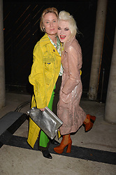 Roisin Murphy & Pam Hogg at the Veuve Clicquot Widow Series launch party curated by Carine Roitfeld and CR Studio held at Islington Green, London England. 19 October 2017.