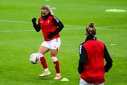 Ebony Salmon of Bristol City Women during warm-up - Mandatory by-line: Will Cooper/JMP - 18/10/2020 - FOOTBALL - Twerton Park - Bath, England - Bristol City Women v Birmingham City Women - Barclays FA Women's Super League
