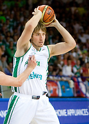 Matjaz Smodis (8) of Slovenia during the basketball match at 1st Round of Eurobasket 2009 in Group C between Slovenia and Serbia, on September 08, 2009 in Arena Torwar, Warsaw, Poland. Slovenia won 84:76. (Photo by Vid Ponikvar / Sportida)