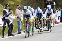 Gerrans Simon - Orica GreenEdge - 28.04.2015 - Tour de Romandie - Etape 01 : Vallee de Joux / Juraparc - CLM Par Equipes<br />Photo : Sirotti / Icon Sport  *** Local Caption ***