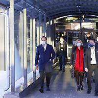 Gardermoen 20210103. <br /> Kronprins Haakon på vei ut besøket hos de evakuerte og pårørende på Gardermoen.<br /> Foto: Tor Erik Schrøder / NTB