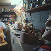 One of the workshops that builds the traditional alder masks.