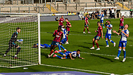 Robers players frustrated after missing a chance from a Bristol Rovers midfielder Zain Westbrooke (8)  free kick during the EFL Sky Bet League 1 match between Bristol Rovers and Ipswich Town at the Memorial Stadium, Bristol, England on 19 September 2020.
