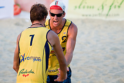 Danijel and Jan Pokersnik (Intersport) at Beachmaster 2010 tournament for Slovenian BeachTour on July 15, 2010, in Ptuj, Slovenia. (Photo by Matic Klansek Velej / Sportida)