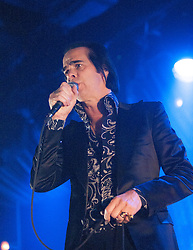 Nick Cave, of Nick Cave and the Bad Seeds, on stage tonight at The Barrowlands, Glasgow, Scotland.<br /> ©Michael Schofield.