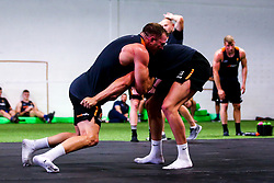 Luke Scully and Perry Humphreys of Worcester Warriors during preseason training ahead of the 2019/20 Gallagher Premiership Rugby season - Mandatory by-line: Robbie Stephenson/JMP - 06/08/2019 - RUGBY - Sixways Stadium - Worcester, England - Worcester Warriors Preseason Training 2019