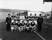 15/03/1961<br /> 03/15/1961<br /> 15 March 1961<br /> Soccer; Army soccer final, Air Corps v Navy at Dalymount Park, Dublin. The Navy team.