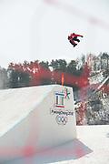 Billy Morgan, Great Britain, during the mens snowboard big air practice at the Pyeongchang 2018 Winter Olympics on 22nd February 2018, at the Alpensia Ski Jumping Centre in Pyeongchang-gun, South Korea
