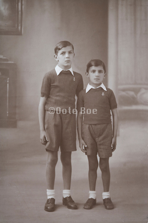 classic vintage photo of two brothers posing