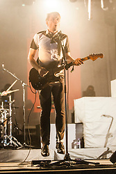 Alex Kapranos of Franz Ferdinand on stage at King Tut's Wah Wah Tent, Sunday, T in the Park 2014.<br /> © Michael Schofield.