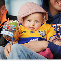 22 May 2011; Clare supporter Eibhine Donnelly, 14 months, during the game. Munster GAA Football Senior Championship Quarter-Final, Cork v Clare, Pairc Ui Chaoimh, Cork. Picture credit: Pat Murphy / SPORTSFILE