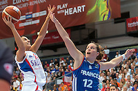 Gaelle Skrela / Ana Dabovic - 28.06.2015 - France / Serbie - Finale Championnat d'Europe feminin de Basket ball -Budapest<br /> Photo : Attila Volgyi / Icon Sport