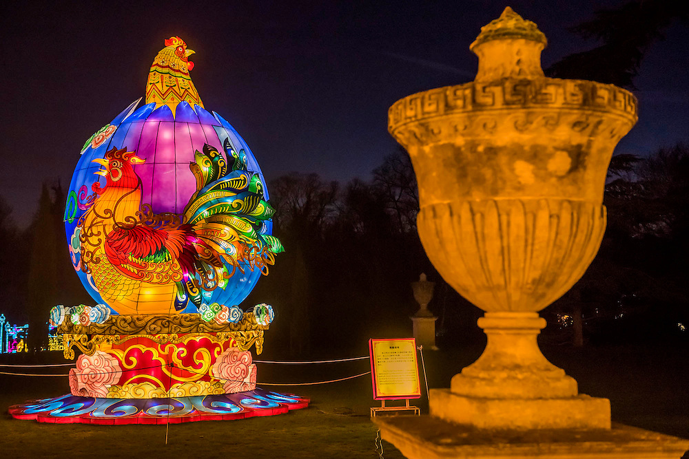 The Rooster - The Magical Lantern Festival gardens at Chiswick House from January 19 until February 26. The gardens arehosting the show which celebrates the Chinese New Year. 2017 is the year of the Rooster. Spread out over 65 acres of the Chiswick House site, there are more than 50 illuminated lanterns. London 17 Jan 2017