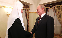 May 24, 2019 - Moscow, Russia - May 24, 2019. - Russia, Moscow. - Russian President Vladimir Putin meets with Patriarch Kirill of Moscow and All Russia to commemorate the day of Saints Cyril and Methodius, evangelisers of the Slavs, at the Kremlin. (Credit Image: © Russian Look via ZUMA Wire)