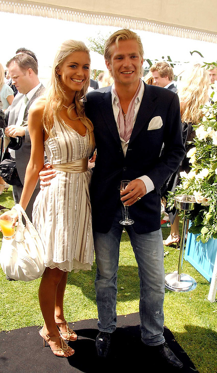 JACOBI ANSTRUTHER-GOUGH-CALTHORPE and KAYLEIGH CURNEEN at the Cartier International polo at Guards Polo Club, Windsor Great Park on 29th July 2007.<br /><br />NON EXCLUSIVE - WORLD RIGHTS
