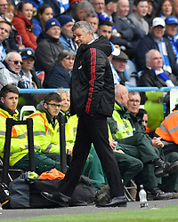 Manchester United Manager Ole Gunnar Solskjaer looks on from the touchline during the Premier League match at the John Smith's Stadium, Huddersfield.