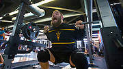 All Blacks prop Owen Franks during the All Blacks gym session at Les Mills, Wellington, in preparation for the 2nd test match between the All Blacks and the British & Irish Lions at Westpac Stadium, Wellington.    26   June   2017    New Zealand Herald photograph by Brett Phibbs