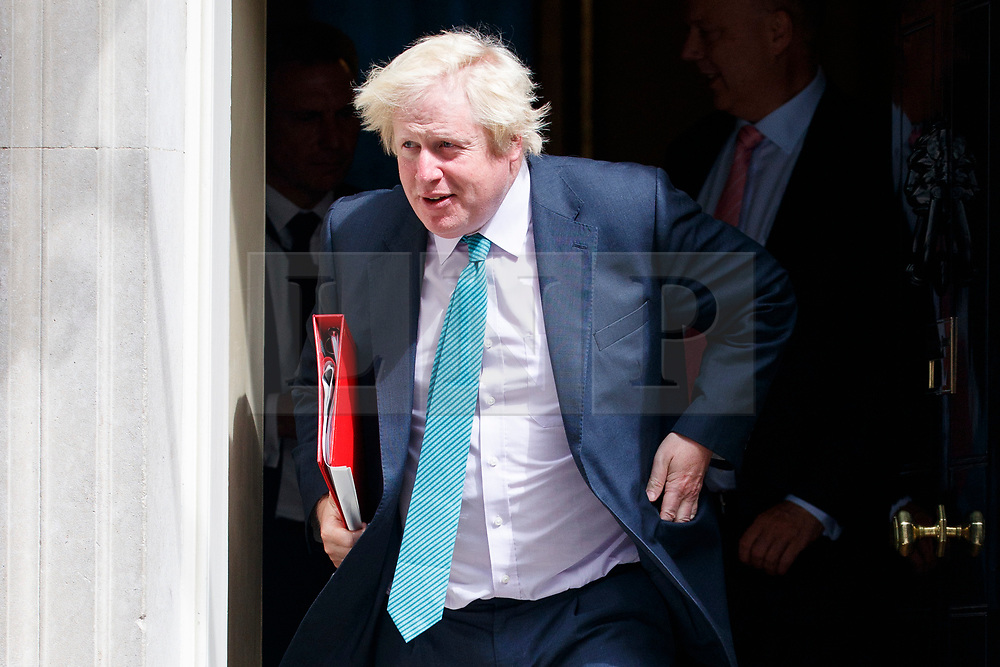 © Licensed to London News Pictures. 04/07/2017. London, UK. Foreign Secretary BORIS JOHNSON attends a cabinet meeting in Downing Street, London on Tuesday, 4 July 2017.Photo credit: Tolga Akmen/LNP