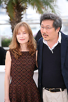 Isabelle Huppert, Hong Sangsoo, at the DA-REUN NA-RA-E-SUH (IN ANOTHER COUNTRY) film photocall at the 65th Cannes Film Festival. Monday 21st May 2012 in Cannes Film Festival, France.