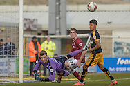 Cambridge United Goalkeeper Will Norris makes a save  during the Sky Bet League 2 match between Northampton Town and Cambridge United at Sixfields Stadium, Northampton, England on 12 March 2016. Photo by Dennis Goodwin.