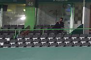 Rúben Amorim watching outside due to 15 days punishment during the Liga NOS match between Sporting Lisbon and Belenenses SAD at Estadio Jose Alvalade, Lisbon, Portugal on 21 April 2021.