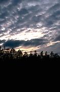 Storm clouds at sunset.  Nisswa Minnesota USA