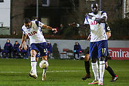 GOAL Tottenham Hotspur forward Carlos Vincius (45) scores his 3rd goal during the The FA Cup match between Marine and Tottenham Hotspur at Marine Travel Arena, Great Crosby, United Kingdom on 10 January 2021.