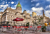 Outdoor Cafe & Palacio del Congreso