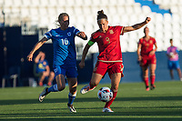 Finland's Emmi Alanen and Spain's Veronica Boquete during the match of  European Women's Championship 2017 at Leganes, between Spain and Finland. September 20, 2016. (ALTERPHOTOS/Rodrigo Jimenez)